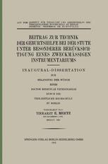 Beitrag zur Technik der Geburtshilfe bei der Stute unter Besonderer Berücksichtigung eines Zweckmässigen Instrumentariums