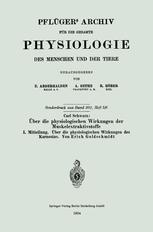 Über die physiologischen Wirkungen der Muskelextraktivstoffe