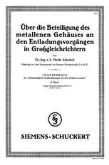 Über die Beteiligung des metallenen Gehäuses an den Entladungsvorgängen in Großgleichrichtern