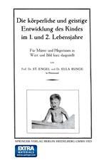 Die körperliche und geistige Entwicklung des Kindes im 1. und 2. Lebensjahre