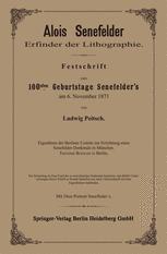Alois Senefelder Erfinder der Lithographie