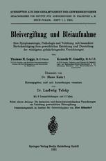 Bleivergiftung und Bleiaufnahme