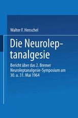 Die Neuroleptanalgesie