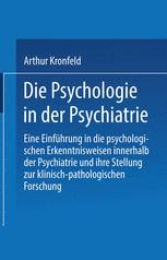 Die Psychologie in der Psychiatrie