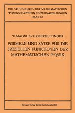 Formeln und Sätze für die Speziellen Funktionen der Mathematischen Physik