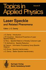 Laser Speckle and Related Phenomena