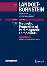Magnetic Properties of Paramagnetic Compounds