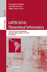 LATIN 2016: Theoretical Informatics