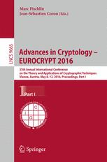 Advances in Cryptology – EUROCRYPT 2016