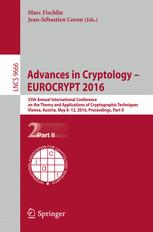 Advances in Cryptology – EUROCRYPT 2016