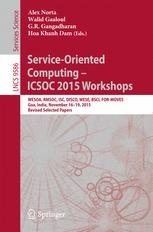 Service-Oriented Computing – ICSOC 2015 Workshops