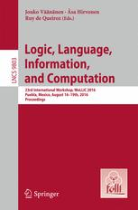Logic, Language, Information, and Computation