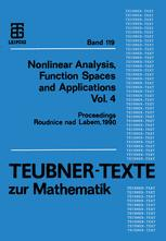 Nonlinear Analysis, Function Spaces and Applications Vol. 4