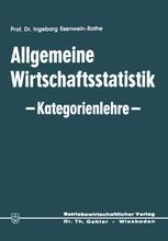 Allgemeine Wirtschaftsstatistik — Kategorienlehre —