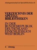 Verzeichnis der Spezialbibliotheken in der Bundesrepublik Deutschland einschließlich West-Berlin