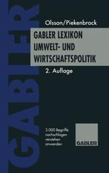 Gabler Lexikon Umwelt- und Wirtschaftspolitik