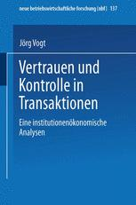 Vertrauen und Kontrolle in Transaktionen