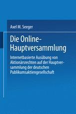 Die Online-Hauptversammlung
