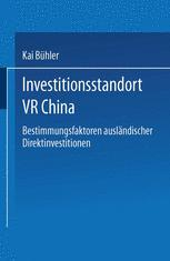 Investitionsstandort VR China