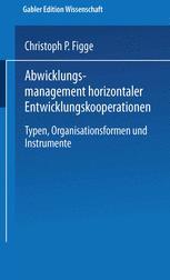 Abwicklungsmanagement horizontaler Entwicklungskooperationen