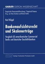 Bankenaufsichtsrecht und Skalenerträge