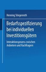 Bedarfsspezifizierung bei individuellen Investitionsgütern