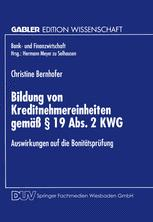 Bildung von Kreditnehmereinheiten gemäß § 19 Abs. 2 KWG