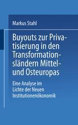 Buyouts zur Privatisierung in den Transformationsländern Mittel- und Osteuropas