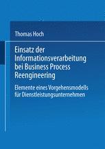 Einsatz der Informationsverarbeitung bei Business Process Reengineering
