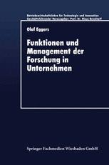 Funktionen und Management der Forschung in Unternehmen