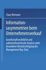 Informationsasymmetrien beim Unternehmensverkauf