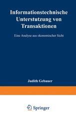 Informationstechnische Unterstützung von Transaktionen