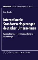 Internationale Standortverlagerungen deutscher Unternehmen
