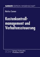 Kostenkontrollmanagement und Verhaltenssteuerung