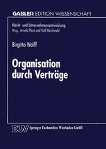 Organisation durch Verträge