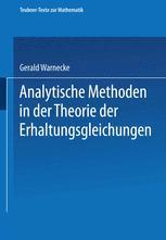 Analytische Methoden in der Theorie der Erhaltungsgleichungen