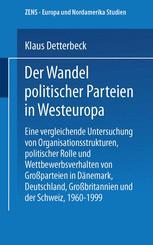 Der Wandel politischer Parteien in Westeuropa