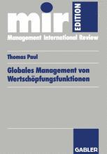 Globales Management von Wertschöpfungsfunktionen