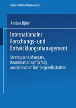 Internationales Forschungs- und Entwicklungsmanagement