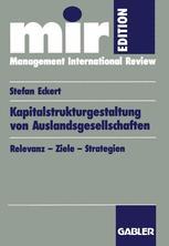 Kapitalstrukturgestaltung von Auslandsgesellschaften