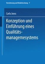Konzeption und Einführung eines Qualitätsmanagementsystems