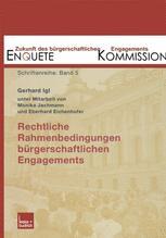 Rechtliche Rahmenbedingungen bürgerschaftlichen Engagements