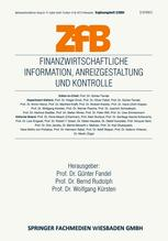 Finanzwirtschaftliche Information, Anreizgestaltung und Kontrolle