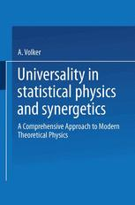 Universality in Statistical Physics and Synergetics