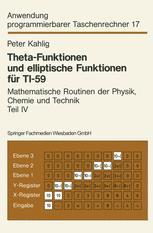 Theta-Funktionen und elliptische Funktionen für TI-59