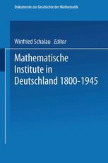 Mathematische Institute in Deutschland 1800–1945