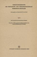 Versuche zur Klärung des Umwandlungsverhaltens eines sonderkarbidbildenden Chromstahls