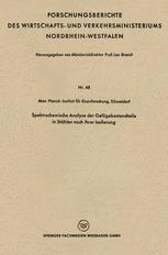 Spektrochemische Analyse der Gefügebestandteile in Stählen nach ihrer Isolierung