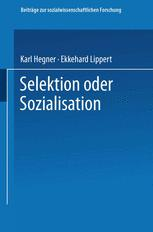 Selektion oder Sozialisation