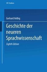 Geschichte der neueren Sprachwissenschaft